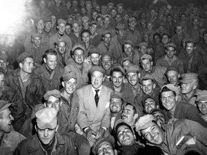 Bob Hope USO show Wonsan Korea October 26 1950