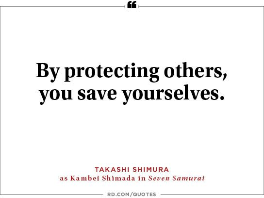 By protecting others,