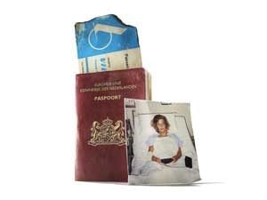 passport and vintage photo