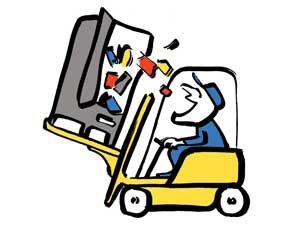truck lifting fridge