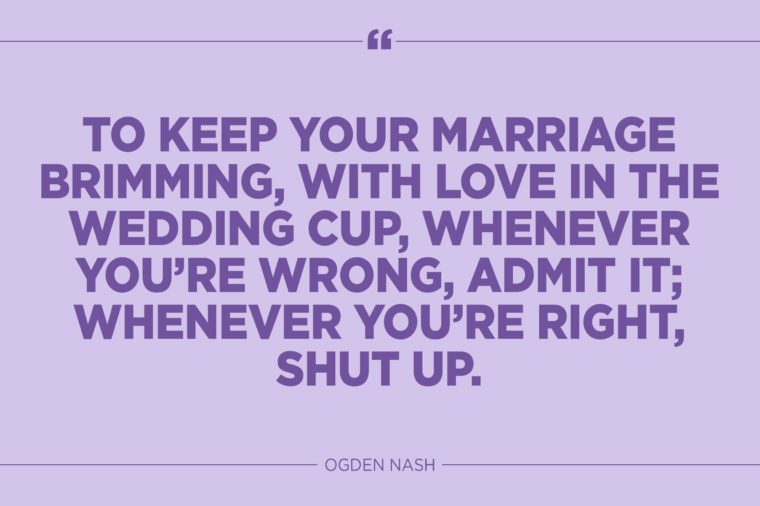 Funny Marriage Quotes That Might Actually Be True Readers Digest