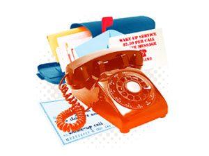 phone and mail box