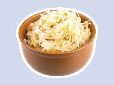 Eat sauerkraut.