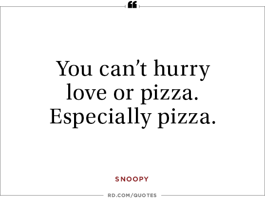 Pizza Love Quotes Beauteous 48 Heartwarming Quotes From Classic Comic Strip Characters