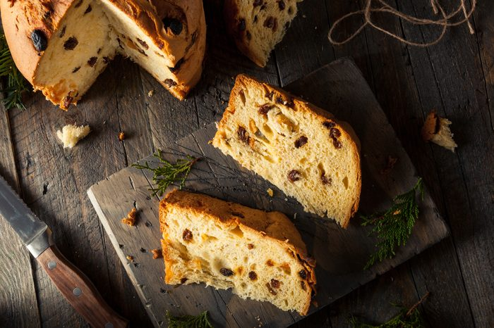 Homemade Christmas Even Panettone Bread with Fruit