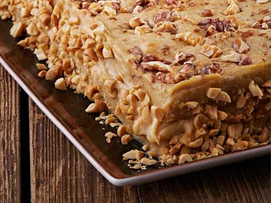 Banana-Walnut Sheet Cake