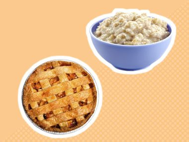thanksgiving ingredients apple pie oatmeal
