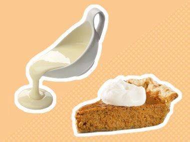 Secret Ingredient for pumpkin pie: fat-free evaporated milk