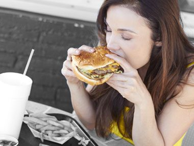 how to not eat fast food too fast