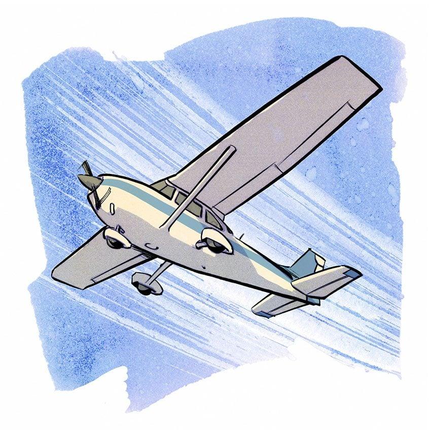 illustration of a vintage airplane