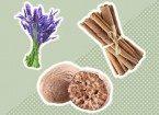 lavendar, nutmeg, cinnamon