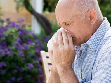 Minimize activities outdoors when pollen counts are at their peak.