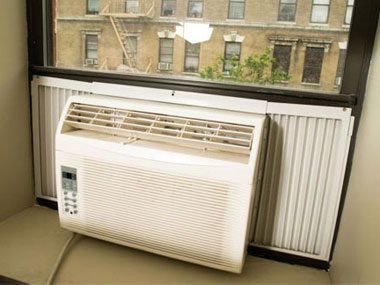 Run the air conditioner at home.