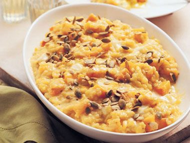 Pumpkin and Corn Risotto