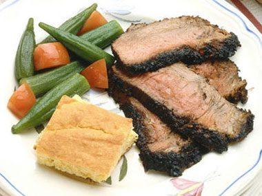 Overcharred beef