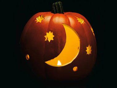 Pumpkin Pattern #5: Starry Night