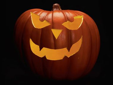 Pumpkin carving patterns free ideas from 27 stencils for Evil face pumpkin template