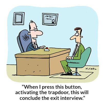Funny Work Cartoons To Get Through The Week Readers Digest - Funny illustrations show how job interviews would go at famous companies