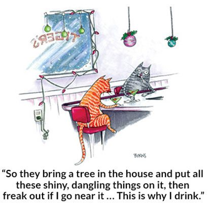 a cats christmas - Funny Christmas Cartoons