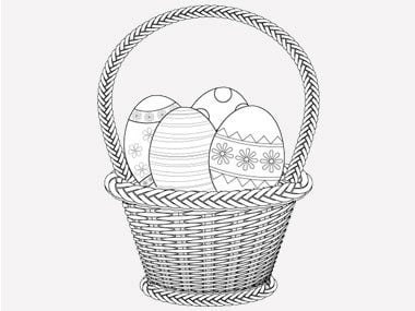 5 printable easter card and gift tag templates readers digest easter egg coloring pages negle Image collections