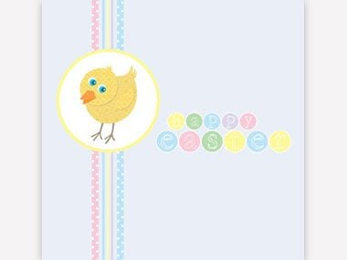 5 printable easter card and gift tag templates readers digest easter chick greeting card negle Gallery