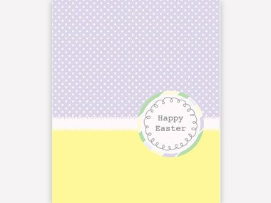 Polka Dots Easter Greeting Card