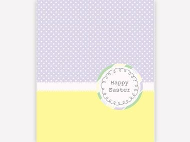 5 printable easter card and gift tag templates readers digest polka dots easter greeting card negle Image collections