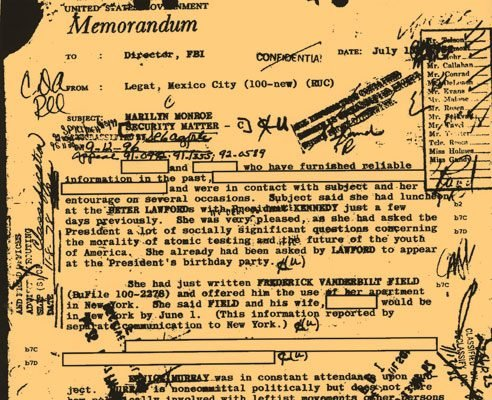 You can read Marilyn Monroe's FBI file online, not to mention your own.