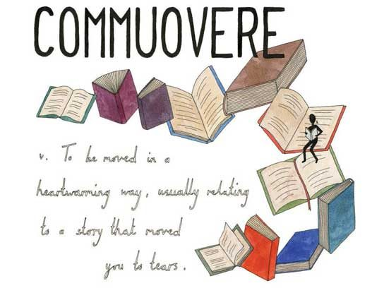 Commuovere (Italian): To be moved in a heartwarming way, usually related to a story that moved you to tears