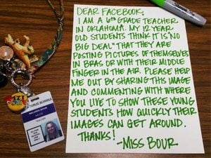 How This Sixth-Grade Teacher's Warning About the Internet Went Viral on Facebook