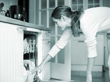 You never clean the inside dishwasher door