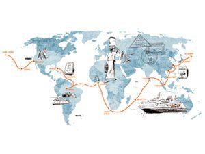 100 days at sea map