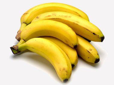 Green apples and bananas