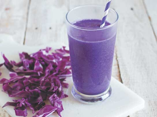 Pineapple, Red Cabbage, & Banana