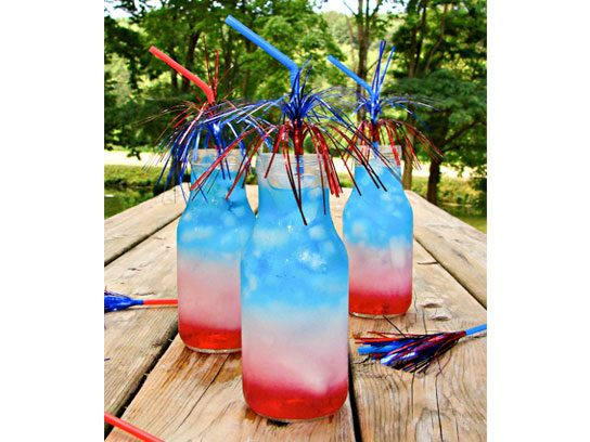 4th of july drinks layered drink