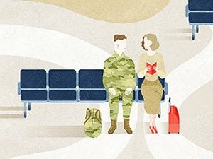 september 2015 aol travel sitting with soldier