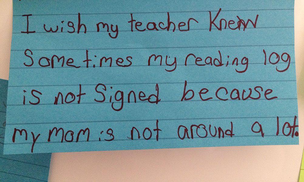 october 2015 I wish my teacher knew