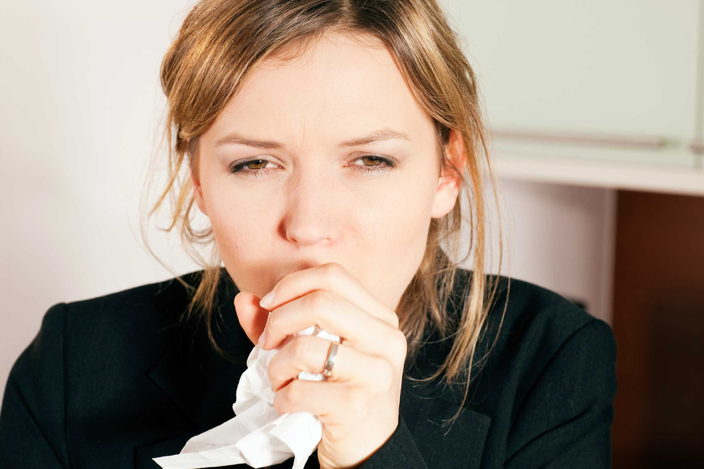 You might suffer from odd coughing, wheezing, or be short of breath.
