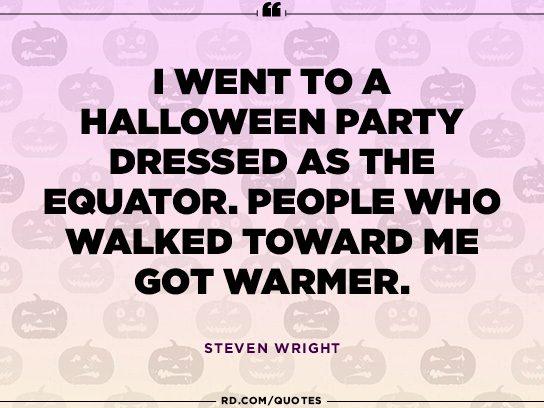 Steven Wright's hot idea