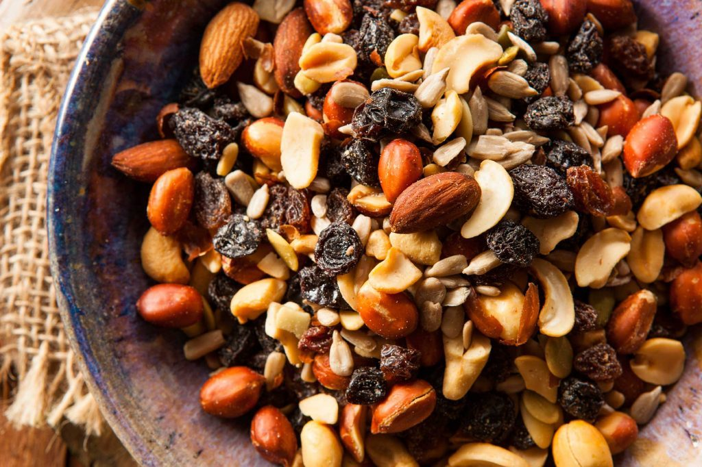 grocery store items trail mix