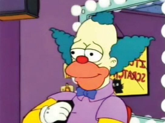 cartoon characters krusty the clown