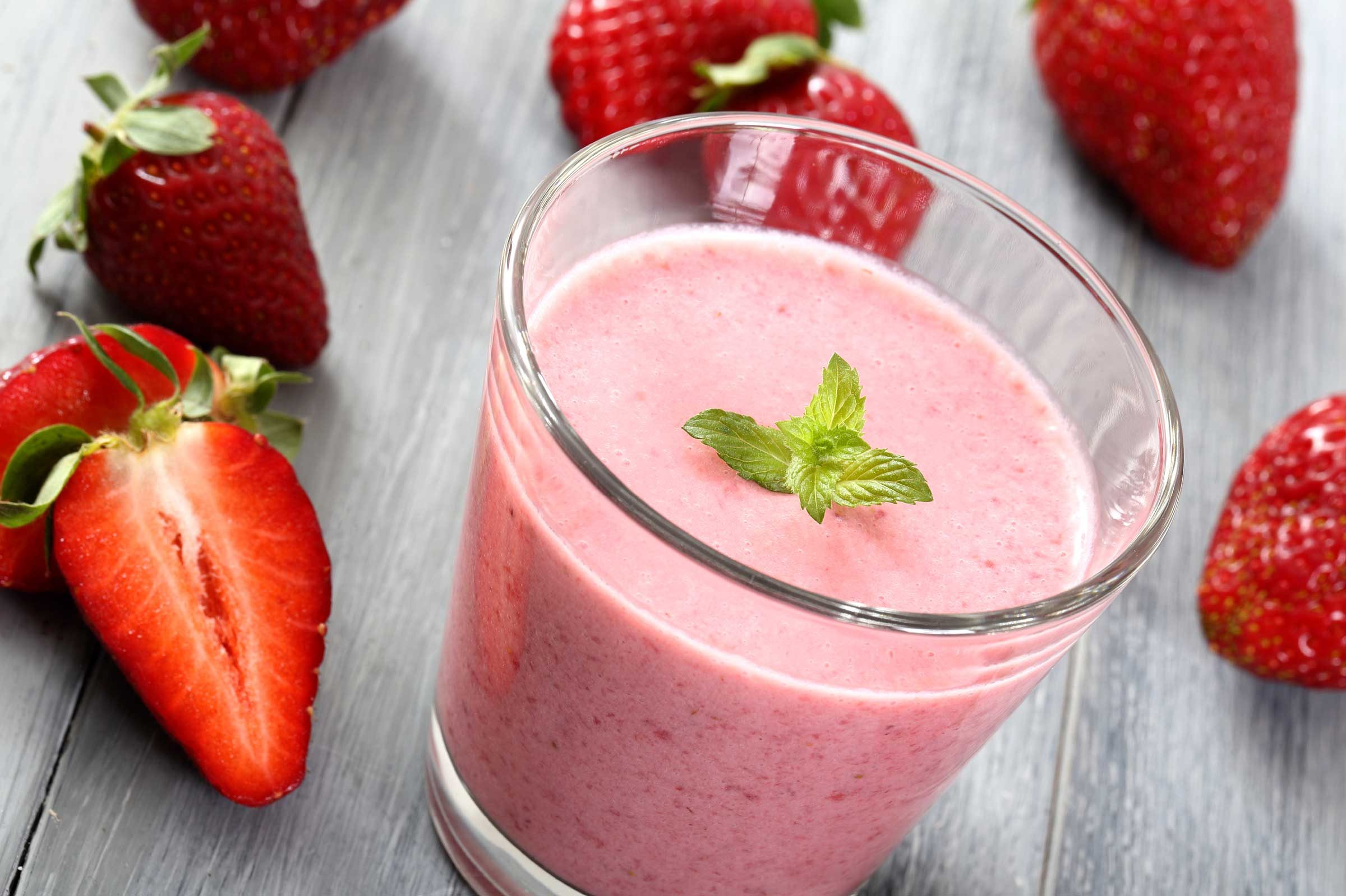 fruit shake recipes healthy strawberry fruit