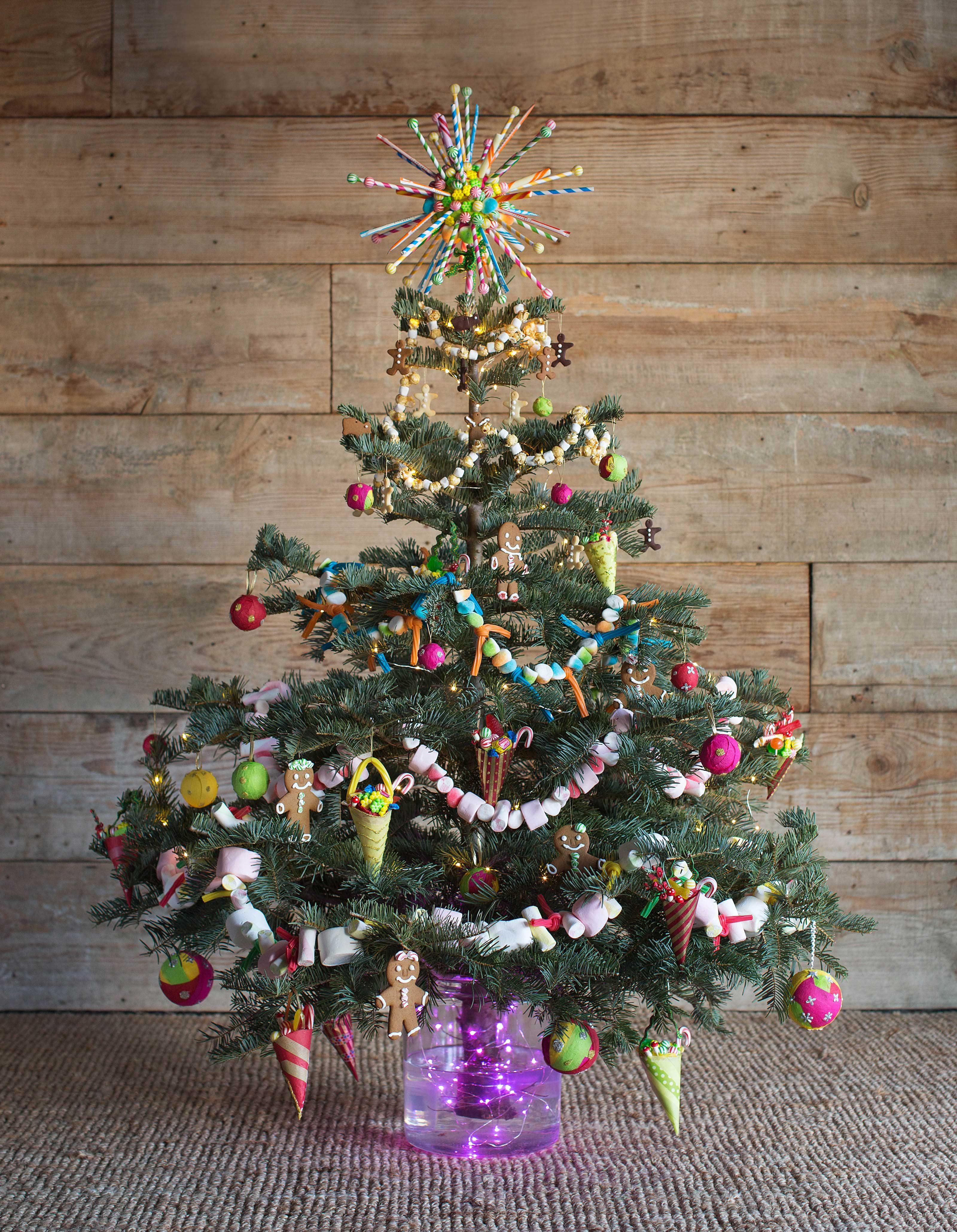 Green Tinsel Christmas Tree