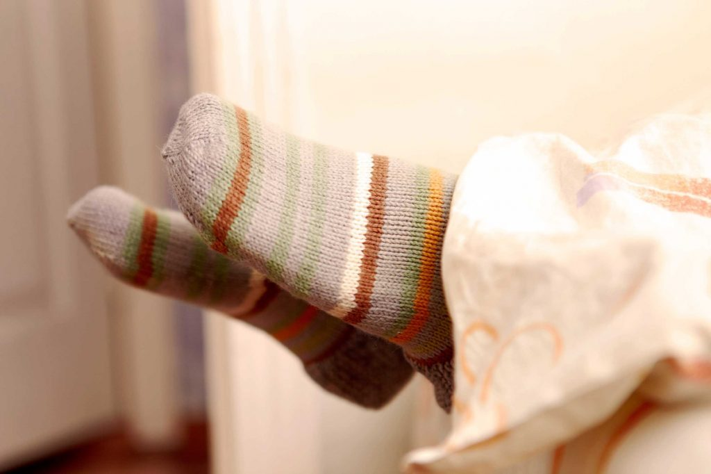 daily habits with health boosts socks in bed