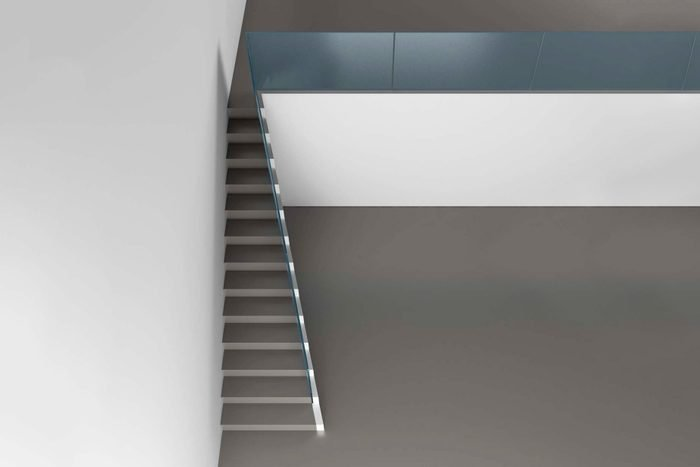 the uncomfortable slim stairs