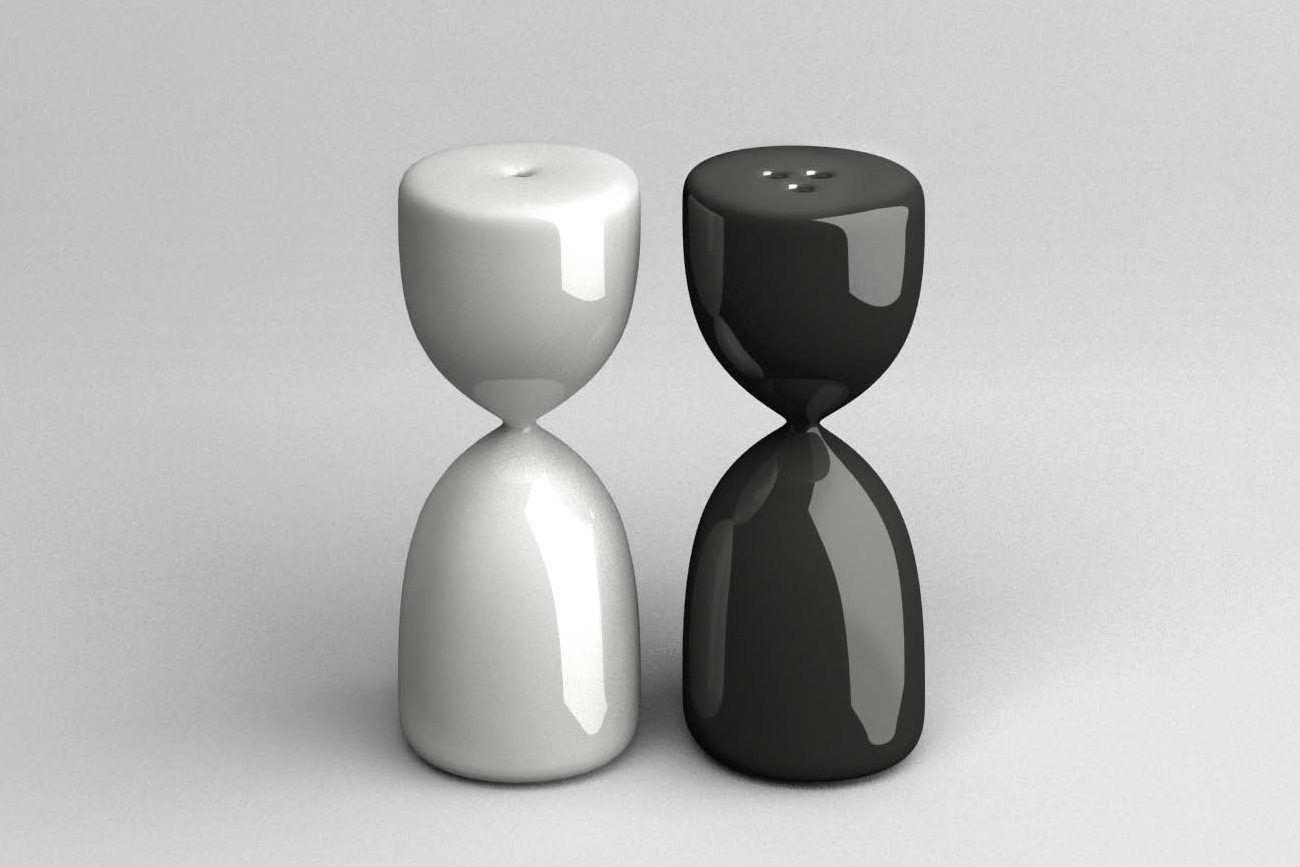 the uncomfortable salt and pepper shakers Courtesy Katerina Kamprani