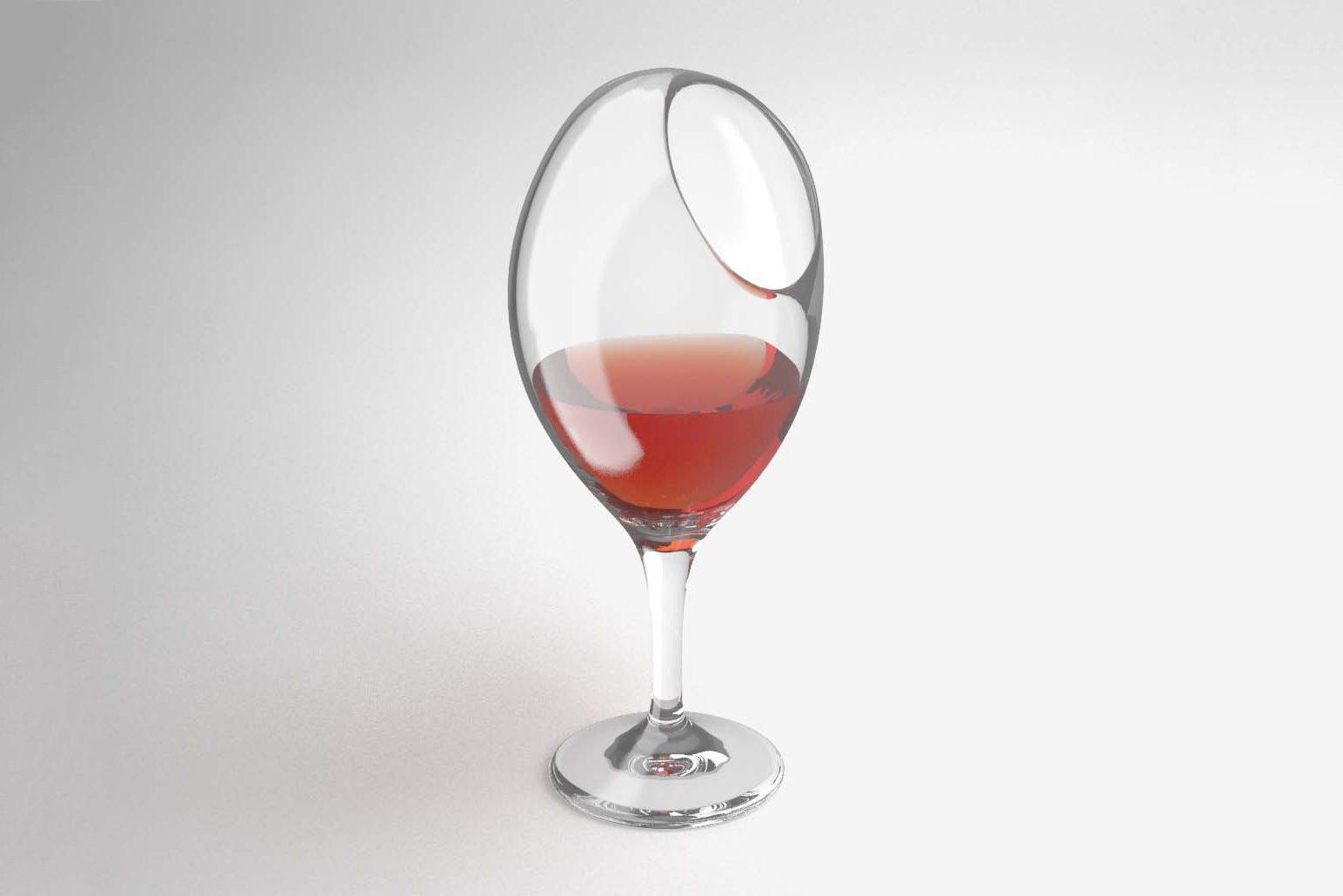 the uncomfortable wine glass Courtesy Katerina Kamprani