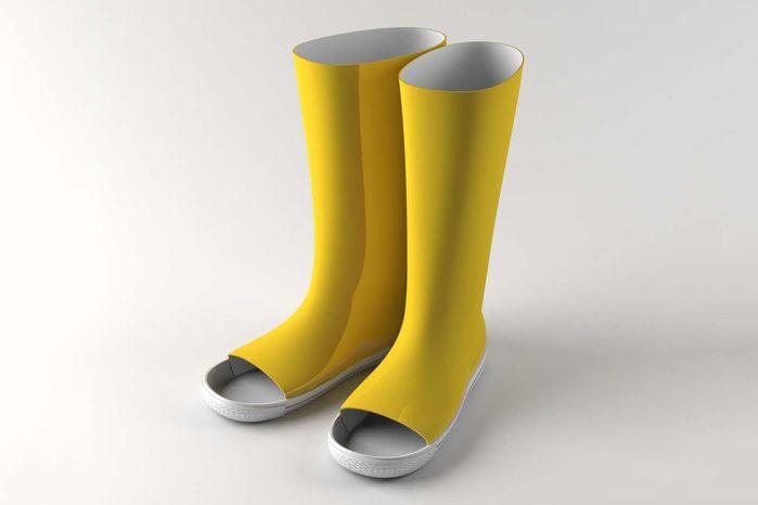 the uncomfortable rainboots Courtesy Katerina Kamprani