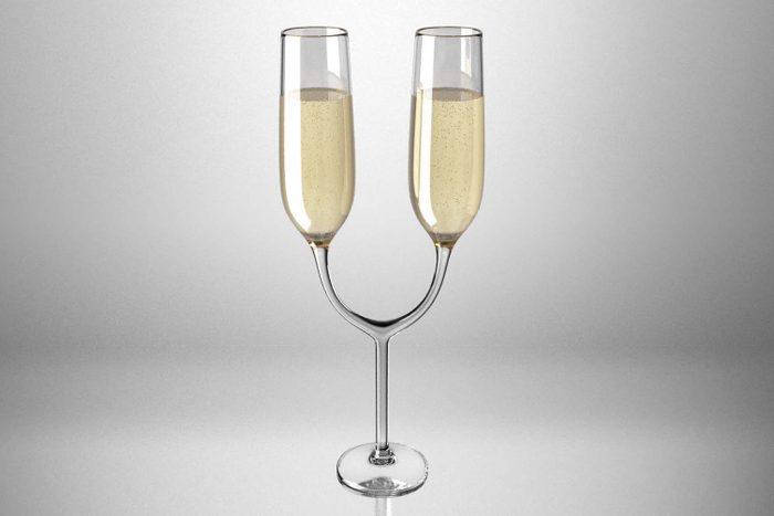 the uncomfortable champagne flutes Courtesy Katerina Kamprani