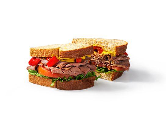 stop and drop roast beef sandwich